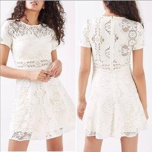 TOPSHOP Lace Cream Dress